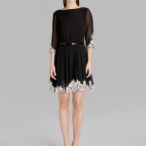Ted Baker fit and flare embroidered Feay dress